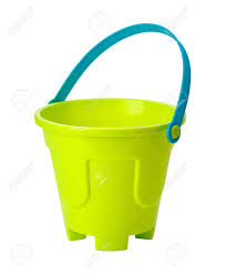 Beach Toy Sand Pail isolated on white Stock Photo - 14192855