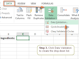 How To Add A Drop Down Box In Word Excel Drop Down List How To Create Edit And Remove Data