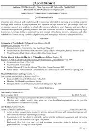 Attorney Resume Samples Entry Level