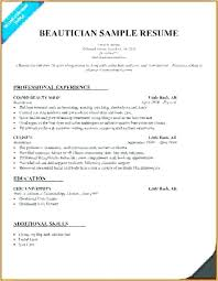 Cosmetology Resume Examples Inspiration Cosmetologist Resume Sample Cosmetology Samples Lovely Examples For