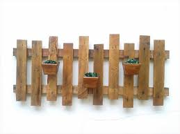 upcycled wooden pallet rustic wall planters