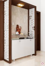 Pooja Area Design Luxurious Intricate Latticework For Pooja Rooms