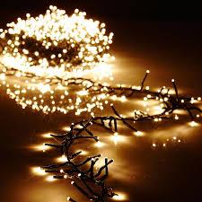 cer garland lights 1300 warm white led lights green wire 44ft