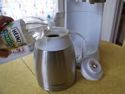 How to clean a coffee maker. How To Clean Your Coffee Pot With White Vinegar Popsugar Home