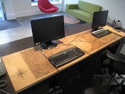 laser engraved leather desk top for lloyd shoe company ltd