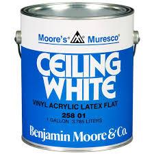 ceiling white paint25801 GALLON WHITE BENJAMIN MOORE MURESCO CEILING PAINT