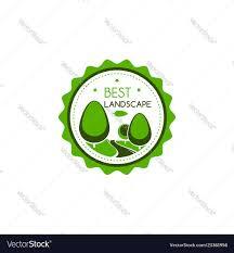 Certificate Of Landscape Design Icon Of Green Trees For Best Landscape