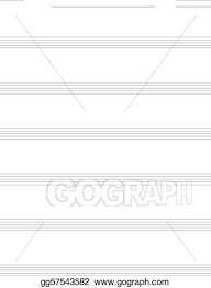 Print Out Blank Music Sheet Vector Stock Blank Music Sheet For Guitar Tabs Stock Clip