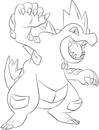 Small Picture Feraligatr coloring page Free Printable Coloring Pages
