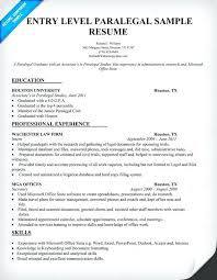 legal assistant resume sample free ...