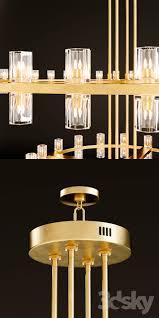 arcachon round 2 tier chandelier 3dsmax 2016 obj corona