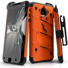 motorola z2 force case. zizo bolt case for motorola moto z2 force / play - 12 ft. military grade drop tested + glass screen protector