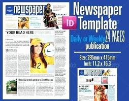 Newspaper Template Indesign Newspaper Template 5 Columns Ad Indesign Newspapers Altpaper Co