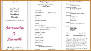 sample wedding ceremony program wedding ceremony program notary letter