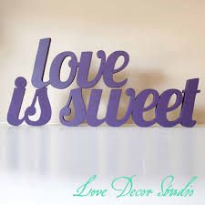 love sign Wooden letters Wedding Candy Bar Candy Buffet Love Is Sweet