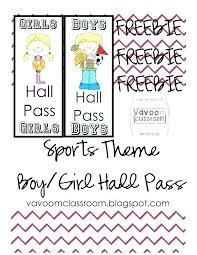 Hallway Passes Bathroom Teacher Notes Pass Template Doc