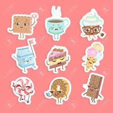 Free Cookies Sticker Design Cute Sweet Desserts Stickers Set Cake Cupcake Donut Cookie