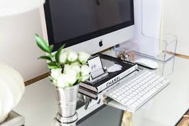 maggie mommy shared office playroom. Glam Office, Home Bamboo Desk, Blogger Office Maggie Mommy Shared Playroom \