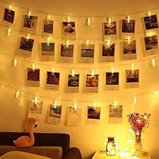 Magnoloran LED Photo String Lights 20 Photo Clips ... - Amazon.com