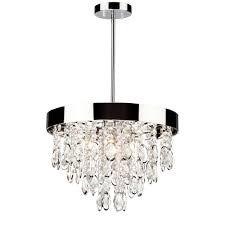 elegante 3 light ac10110 chrome chandelier