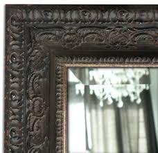Parisienne Ornate Antique Black Wood Framed Wall Mirror West Frames