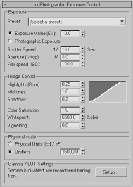 ds max help mr photographic exposure control for that reason combining gamma correction the logarithmic exposure control is discouraged whereas using it together the photographic exposure