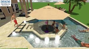 salt water pool design. Also Designed To Entertain, The Saltwater Pool Features Several Social Spaces Such As A Swim-up Table, Shallow Water Lounging Areas, Sunken Seating, Salt Design R