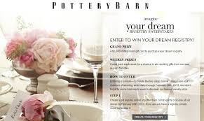 pottery barn imagine your dream registry sweepstakes win a 5 000 pottery barn gift card