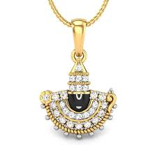 balaji diamond pendant jewellery ping india yellow gold 18k candere by kalyan jewellers