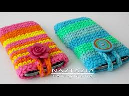 diy tutorial how to crochet easy mobile cell phone pouch case cover holder for iphone ipod samsung clip fail