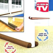 sliding door air blocker for under the cold creative brown window grates twin draft guard dust