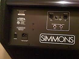 simmons da200s. the back of da200s simmons da200s m