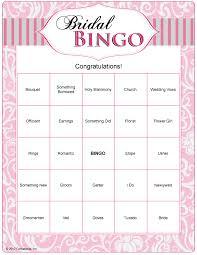Wedding Bingo Words