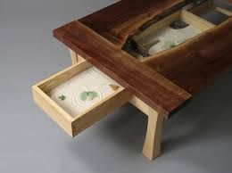 Zen Garden Coffee Table by Rob Palmer - a woodworking student at Burlington  College. It's