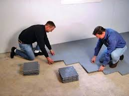how to lay tiles on concrete vinyl flooring for basement over