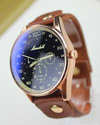 men leather watch big face blue face wrist watch door mywatch vintage retro style leather watch men watch color dark blue face brown leather band type quartz dial window material glass case material