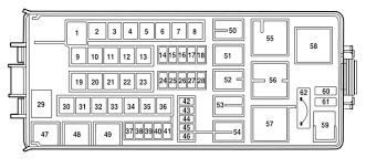 lincoln aviator 2002 2005 fuse box diagram auto genius lincol aviator power distribution box