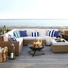 Pier One White Wicker Bedroom Furniture Latte 5 Piece Sectional Fire Pits Sectional Sofas And Metal