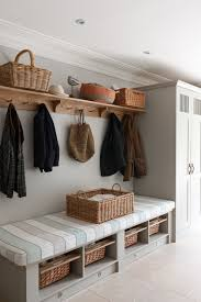 entryway bench with shoe storage Entry Transitional with basket bench built- in cabinetry