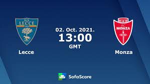 Lecce vs Monza live score, H2H and lineups