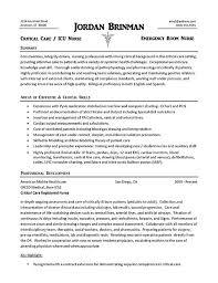 Example Nursing Resume Magnificent Sample Er Nurse Resumes Sample Er Nurse Resumes