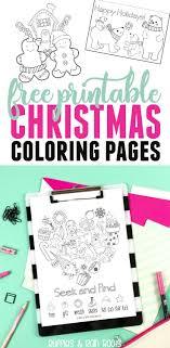 Free Christmas Coloring And Holiday Fun