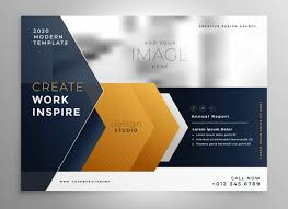 Abstract Professional Brochure Design Template Vector Free