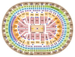 A Color Coded Seating Map And Chart For The Staples Center