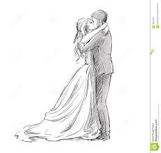 Wedding Couple Kiss Newlywed Stock Vector Illustration Of