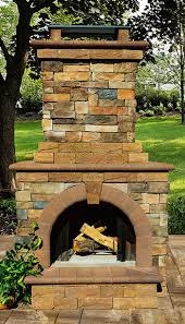 cambridge fully assembled stone veneer outdoor fireplace