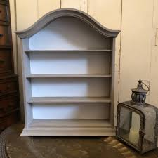 elegant sweet vintage grey white hand painted country regency style wall cabinet