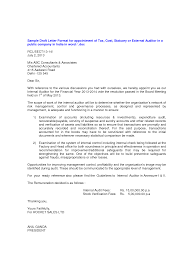 New Format Auditor Appointment Letter Letter