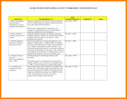Workforce Transition Plan Template Example Employee Capacity ...