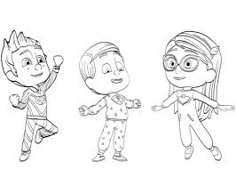 Small Picture PJ Masks Pajama Heroes coloring page Free Printable Coloring Pages